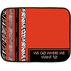 Poster Twenty One Pilots We Go Where We Want To Double Sided Fleece Blanket (mini)  by Onesevenart