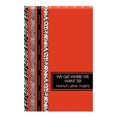 Poster Twenty One Pilots We Go Where We Want To Shower Curtain 48  X 72  (small)  by Onesevenart