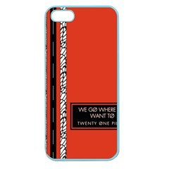 Poster Twenty One Pilots We Go Where We Want To Apple Seamless Iphone 5 Case (color) by Onesevenart