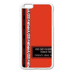 Poster Twenty One Pilots We Go Where We Want To Apple Iphone 6 Plus/6s Plus Enamel White Case by Onesevenart
