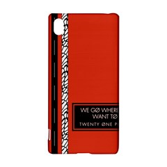 Poster Twenty One Pilots We Go Where We Want To Sony Xperia Z3+ by Onesevenart