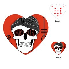 Poster Twenty One Pilots Skull Playing Cards (heart)  by Onesevenart