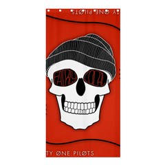 Poster Twenty One Pilots Skull Shower Curtain 36  X 72  (stall)  by Onesevenart
