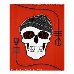 Poster Twenty One Pilots Skull Shower Curtain 60  X 72  (medium)  by Onesevenart