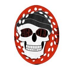 Poster Twenty One Pilots Skull Ornament (oval Filigree) by Onesevenart
