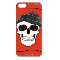 Poster Twenty One Pilots Skull Apple Seamless Iphone 5 Case (clear) by Onesevenart