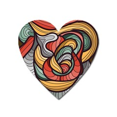 Beautiful Pattern Background Wave Chevron Waves Line Rainbow Art Heart Magnet by Mariart