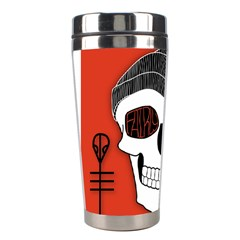 Poster Twenty One Pilots Skull Stainless Steel Travel Tumblers by Onesevenart