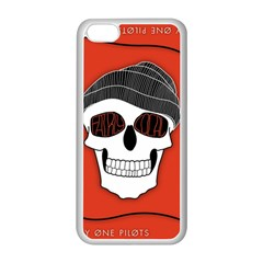 Poster Twenty One Pilots Skull Apple Iphone 5c Seamless Case (white) by Onesevenart