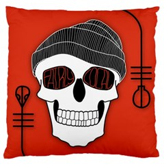 Poster Twenty One Pilots Skull Large Flano Cushion Case (one Side) by Onesevenart