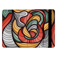 Beautiful Pattern Background Wave Chevron Waves Line Rainbow Art Samsung Galaxy Tab Pro 12 2  Flip Case by Mariart