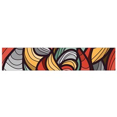 Beautiful Pattern Background Wave Chevron Waves Line Rainbow Art Flano Scarf (small)