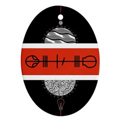 Poster Twenty One Pilots Ornament (oval) by Onesevenart