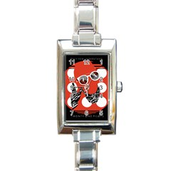 Twenty One Pilots Poster Contest Entry Rectangle Italian Charm Watch by Onesevenart
