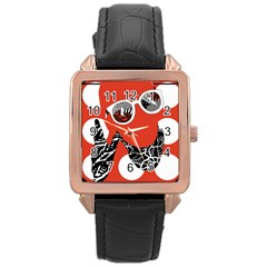 Twenty One Pilots Poster Contest Entry Rose Gold Leather Watch  by Onesevenart