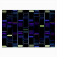 Biostatistics Line Blue Large Glasses Cloth (2 Side) by Mariart