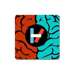 Twenty One Pilots Square Magnet by Onesevenart