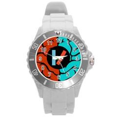 Twenty One Pilots Round Plastic Sport Watch (l) by Onesevenart