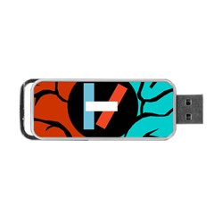 Twenty One Pilots Portable Usb Flash (one Side) by Onesevenart