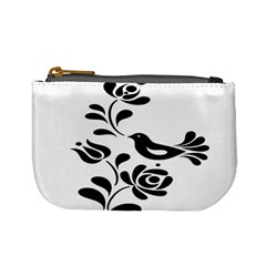 Birds Flower Rose Black Animals Mini Coin Purses by Mariart