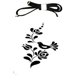 Birds Flower Rose Black Animals Shoulder Sling Bags by Mariart