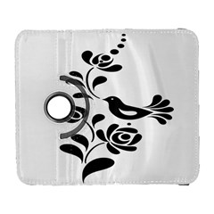 Birds Flower Rose Black Animals Galaxy S3 (flip/folio) by Mariart