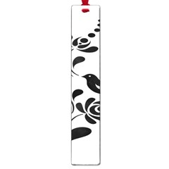 Birds Flower Rose Black Animals Large Book Marks by Mariart