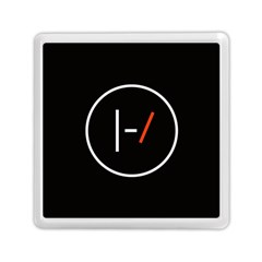 Twenty One Pilots Band Logo Memory Card Reader (square)  by Onesevenart