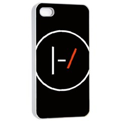 Twenty One Pilots Band Logo Apple Iphone 4/4s Seamless Case (white) by Onesevenart