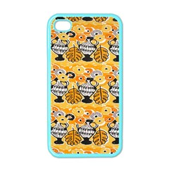 Amfora Leaf Yellow Flower Apple Iphone 4 Case (color) by Mariart