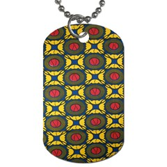 African Textiles Patterns Dog Tag (two Sides) by Mariart