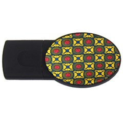 African Textiles Patterns Usb Flash Drive Oval (4 Gb) by Mariart