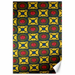 African Textiles Patterns Canvas 20  X 30   by Mariart