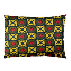 African Textiles Patterns Pillow Case (two Sides) by Mariart