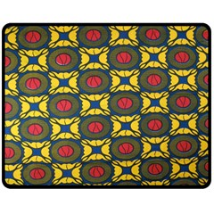 African Textiles Patterns Double Sided Fleece Blanket (medium)  by Mariart