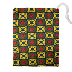 African Textiles Patterns Drawstring Pouches (xxl) by Mariart