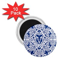 Birds Fish Flowers Floral Star Blue White Sexy Animals Beauty 1 75  Magnets (10 Pack)  by Mariart