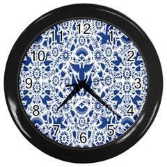 Birds Fish Flowers Floral Star Blue White Sexy Animals Beauty Wall Clocks (black)