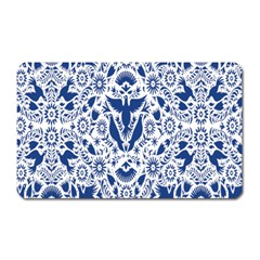 Birds Fish Flowers Floral Star Blue White Sexy Animals Beauty Magnet (rectangular) by Mariart