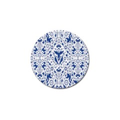 Birds Fish Flowers Floral Star Blue White Sexy Animals Beauty Golf Ball Marker (4 Pack) by Mariart