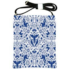 Birds Fish Flowers Floral Star Blue White Sexy Animals Beauty Shoulder Sling Bags by Mariart