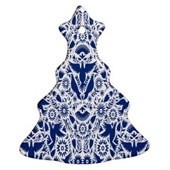 Birds Fish Flowers Floral Star Blue White Sexy Animals Beauty Ornament (christmas Tree)  by Mariart