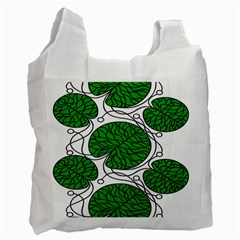 Bottna Fabric Leaf Green Recycle Bag (one Side) by Mariart