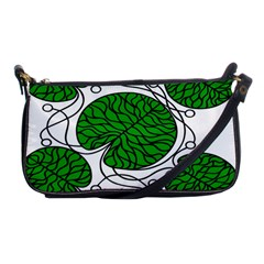 Bottna Fabric Leaf Green Shoulder Clutch Bags by Mariart