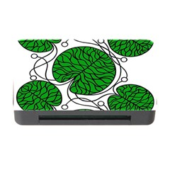 Bottna Fabric Leaf Green Memory Card Reader With Cf by Mariart