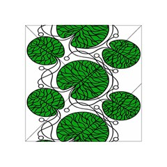 Bottna Fabric Leaf Green Acrylic Tangram Puzzle (4  X 4 ) by Mariart