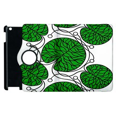 Bottna Fabric Leaf Green Apple Ipad 2 Flip 360 Case by Mariart