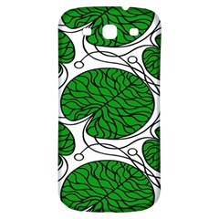 Bottna Fabric Leaf Green Samsung Galaxy S3 S Iii Classic Hardshell Back Case by Mariart