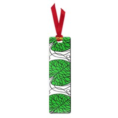 Bottna Fabric Leaf Green Small Book Marks by Mariart