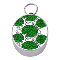Bottna Fabric Leaf Green Mini Silver Compasses by Mariart
